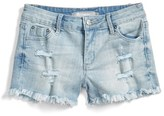 Tractr Girl's Distressed Denim Shorts