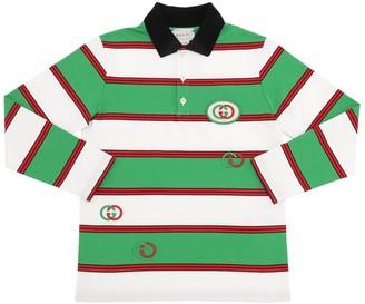 Gucci Striped Cotton Jersey Polo