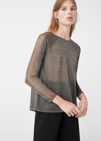 MANGO Openwork Metallic Sweater