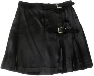 Jill Stuart Black Silk Skirt for Women Vintage