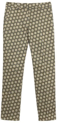 Max Mara Stretch-Cotton Printed Trousers