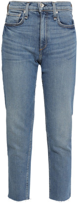 Rag & Bone Cropped High-rise Slim-leg Jeans
