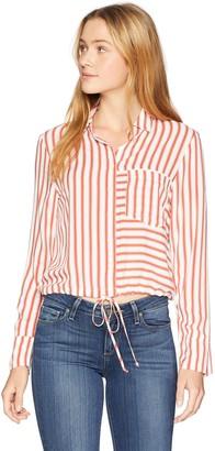 Soul Cake Women's TIE Waist Striped Shirt