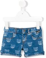 Moschino Kids - Teddy bear denim shorts - kids - Cotton/Spandex/Elastane - 6-9 mth