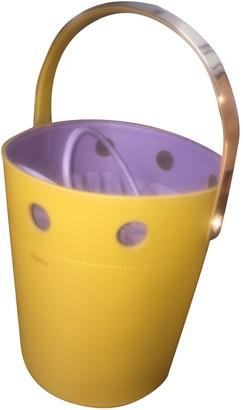 Perrin Paris Yellow Leather Handbags