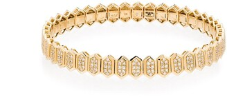 Shay 18kt Yellow Gold Hexagon Pave Diamond Bracelet