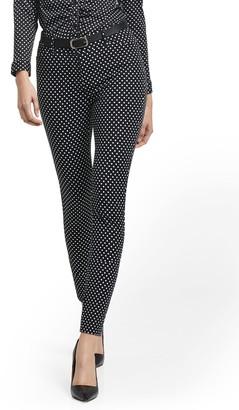 New York & Co. Petite Audrey High-Waisted Ankle Pant - Polka-Dot Print
