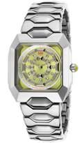 Matthew Williamson Lbm33001-24 Women's Silver-Tone Base Metal Lime Dial Silver-Tone Base Metal Watch