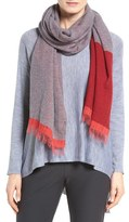 Eileen Fisher Recycled Cashmere Blend Colorblock Scarf