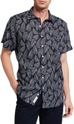 Rodd & Gunn Men's Longview Palm Print Sport Shirt