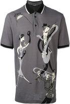 Dolce & Gabbana musical print polo shirt - men - Silk/Cotton - 46