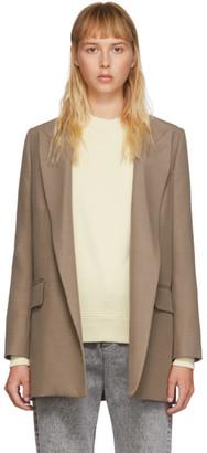 Ami Alexandre Mattiussi Taupe Buttonless Long Blazer