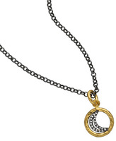 Lika Behar Tiny Diamond Moon Pendant Necklace