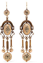 Fred Leighton - 1880s 14-karat Gold Enamel Earrings