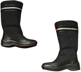 Bally Black Faux fur Boots