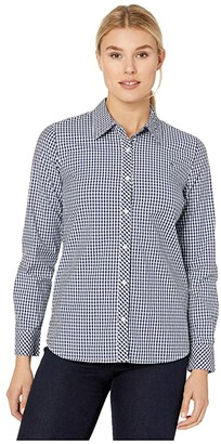 Vineyard Vines Gingham Chilmark Classic Button-Down (Iris) Women's Clothing
