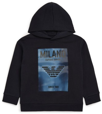 Emporio Armani Kids All-Over Eagle Logo Zip-Up Hoodie (4-16 Years)