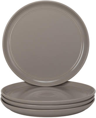 Ten Strawberry Street Set Of 4 Double Line Gray Salad Plates