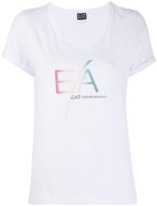 Emporio Armani Ea7 logo printed T-shirt