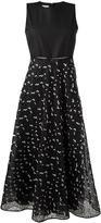 Giamba embellished sheer flared dress