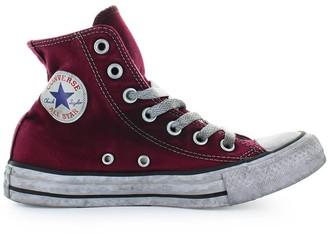 Converse High Canvas Maroon Chuck Taylor Sneaker Ltd Ed Women