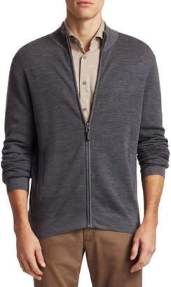 Saks Fifth Avenue Wool Zip-Up Sweater