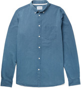 Norse Projects Anton Button-Down Collar Washed-Denim Shirt