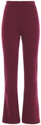 Nanushka Leba Ribbed-knit Kick-flare Pants