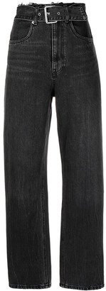 Alexander Wang Belted Straight-Leg Jeans