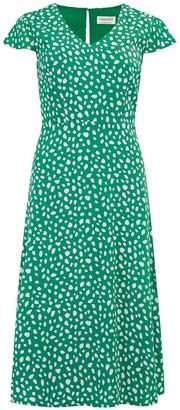 Sugarhill Brighton Xanthe Painterly Spot Midi Dress