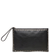 Valentino Small Rockstud Clutch in Black.