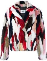 MSGM fur jacket