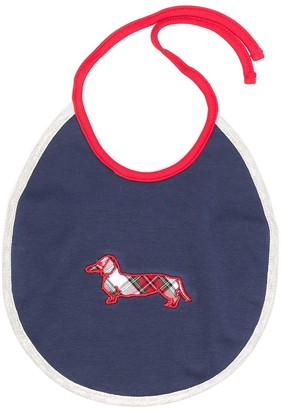 Harmont & Blaine Junior Embroidered Checked Logo Bib