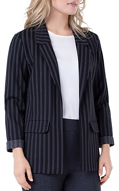 Liverpool Los Angeles Pinstriped Boyfriend Blazer
