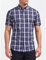 Gant Tech Prep Chambray Large Check Short Sleeve Shirt