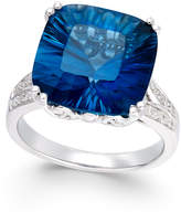 Macy's London Blue Topaz (8-1/2 ct. t.w.) and Diamond (1/2 ct. t.w.) Ring in Sterling Silver