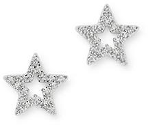 Bloomingdale's Diamond Star Stud Earrings in 14K White Gold, 0.10 ct. t.w. - 100% Exclusive