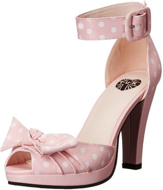 T.U.K. Women's Polka Dot Peep Toe Starlet Heel