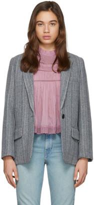 Etoile Isabel Marant Grey Wool Charly Blazer