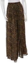 Ronny Kobo Printed Maxi Skirt