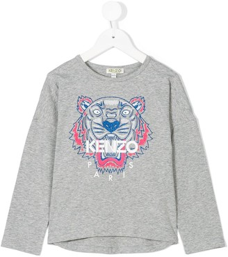 Kenzo Kids logo embroidered T-shirt