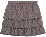 Sonia Rykiel Layered Pleated Wool-Tweed Mini Skirt