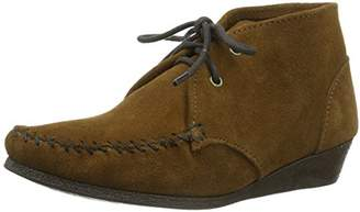Minnetonka Chukka Wedge Boot, Women's Chukka Boots,7 UK