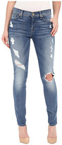 7 For All Mankind The Skinny w/ Contrast Squiggle & Destroy in Stretch Blue Orchid 2