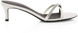 Giuseppe Zanotti Miria Swarovski Crystal Leather Mules