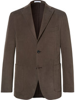 Boglioli - Brown Slim-fit Brushed Stretch-cotton Twill Suit Jacket