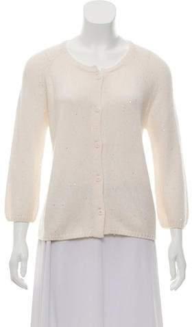 Amina Rubinacci Embellished Cashmere Cardigan