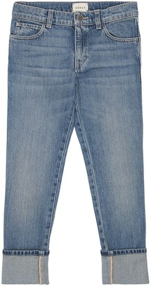 Gucci Stone Washed Cotton Denim Jeans