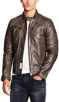 Redskins Men's Clayton Mojito Leather Long Sleeve Jacket