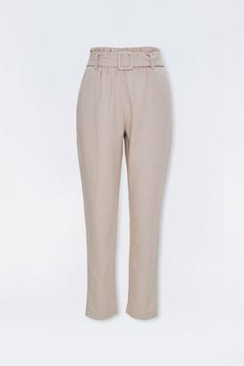Forever 21 Linen-Blend Paperbag Pants